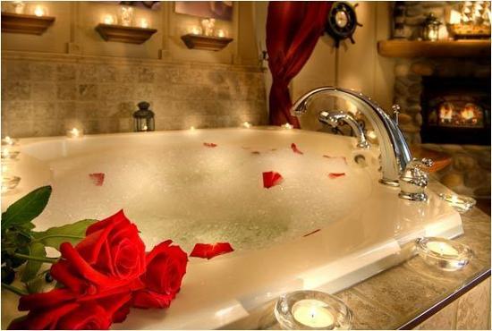 Романтическое свидание: ванна с пеной
